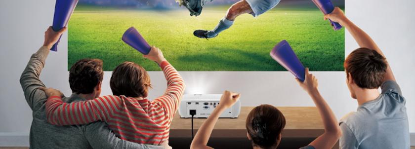proyector de futbol